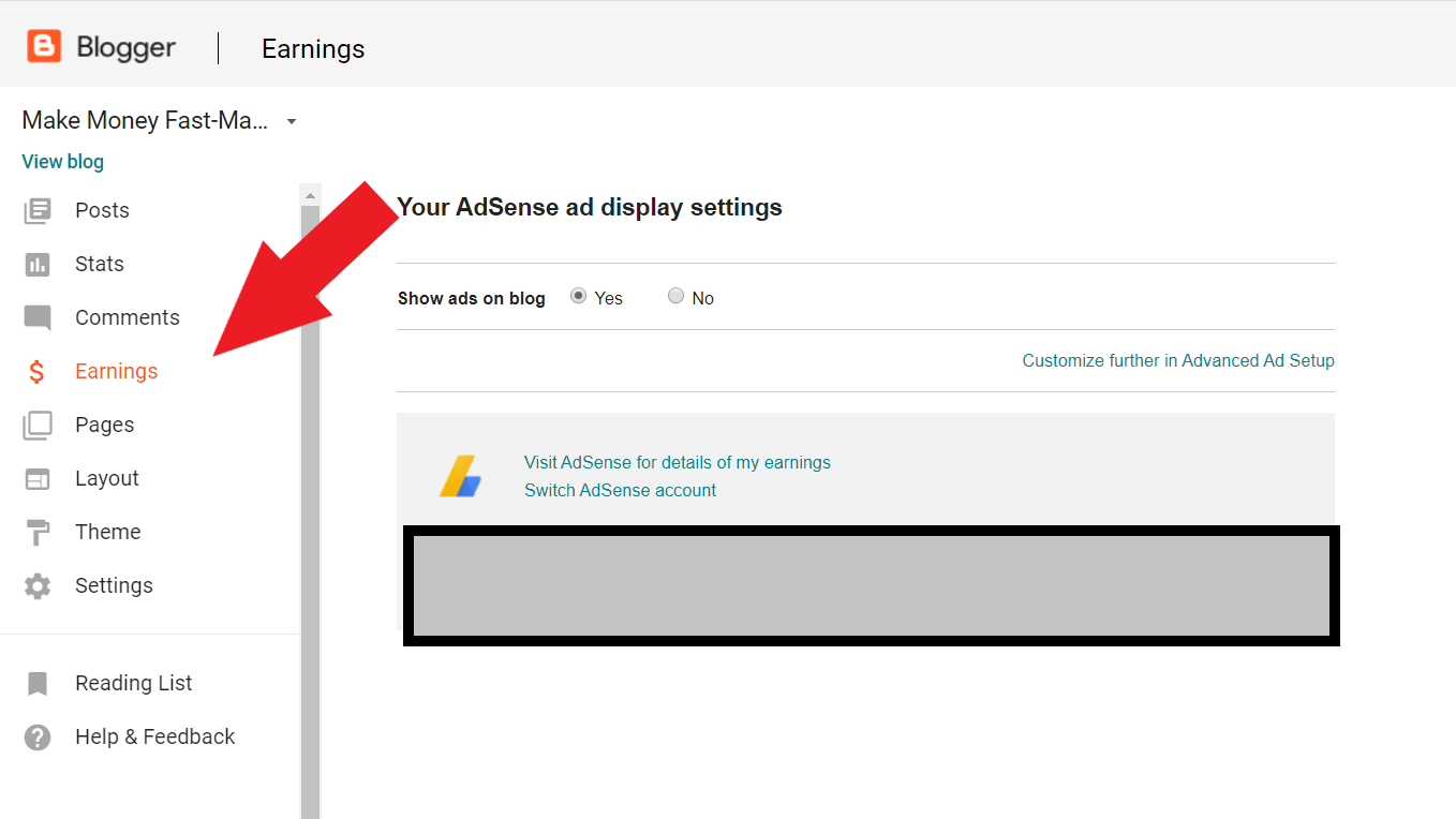 Step by step instructions to adapt your Blogger blog with AdSense promotions